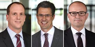 Christian Fuchs, Oliver Striebel und Torsten Janßen (v.l.n.r.) übernehmen ab November 2019 wichtige Positionen bei Nexia International