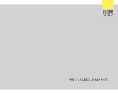 Corporate brochure Ebner Stolz