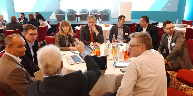 Diskussionsrunde, Nexia zu Gast bei Ebner Stolz