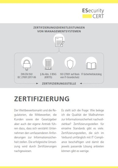 ESecurity-CERT - Zertifizierung