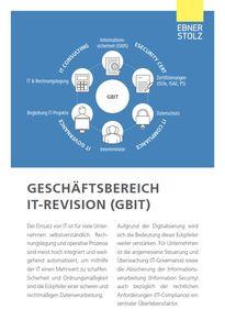 Ebner Stolz - Geschäftsbereich IT-Revision (GBIT)
