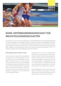 Ebner Stolz Umsatzsteuer Impuls - Bruchteilsgemeinschaften