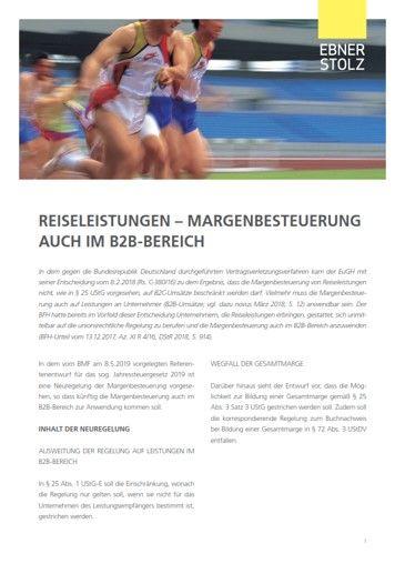 Ebner Stolz Umsatzsteuer Impuls - Reiseleistungen