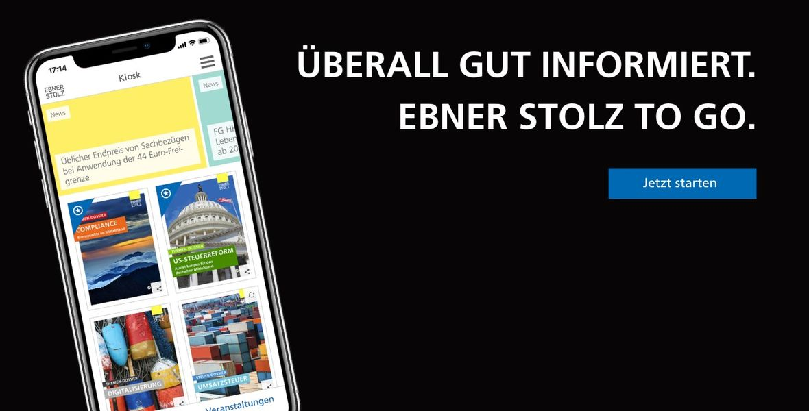 Ebner Stolz macht mobil: Neue Progressive Web App EBNER STOLZ TO GO