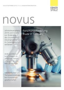 Ebner Stolz novus Mandanteninformation August/September 2019