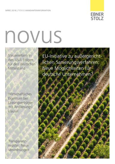 Ebner Stolz novus Mandanteninformation März 2018
