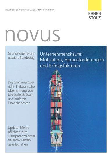 Ebner Stolz novus Mandanteninformation November 2019