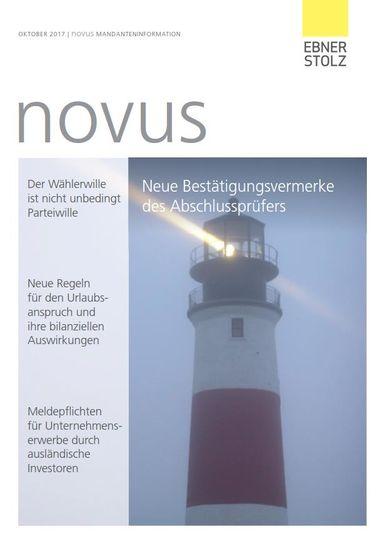 Ebner Stolz novus Mandanteninformation Oktober 2017