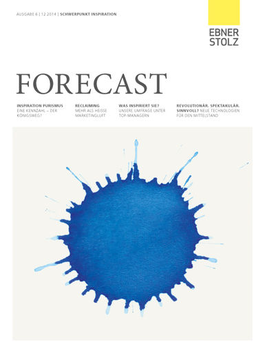 Forecast, Ausgabe 6 - Schwerpunkt Inspiration