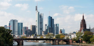 Frankfurt historic city Skyline