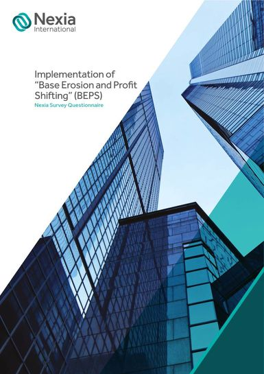 Implementation of Base Erosion and Profit Shifting (BEPS) - Nexia Survey Questionnaire