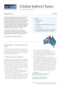 Nexia Gloabl Indirect Taxes, September 2015, Issue 6