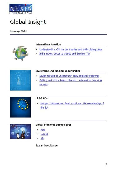 Nexia Global Insight, January 2015