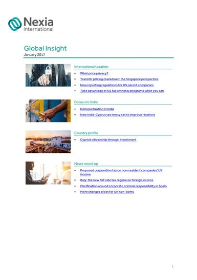 Nexia Global Insight, January 2017