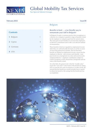 Nexia Global Mobility Tax Services, February 2015, Issue 4