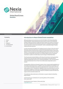 Nexia Global Real Estate Newsletter, February 2017, Issue 4