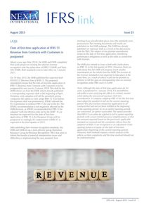 Nexia IFRS Link Newsletter, August 2015, Issue 23