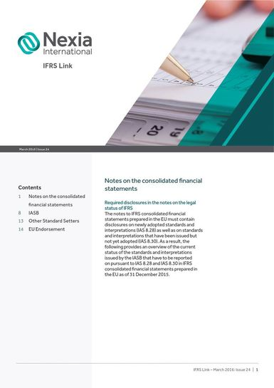 Nexia IFRS Link Newsletter, March 2016, Issue 24