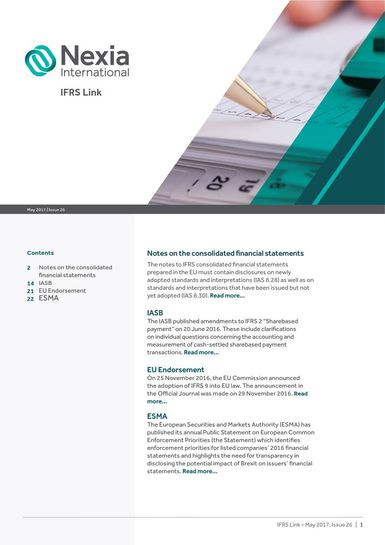 Nexia IFRS Link Newsletter, May 2017, Issue 26