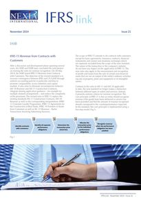 Nexia IFRS Link Newsletter, November 2014, Issue 21