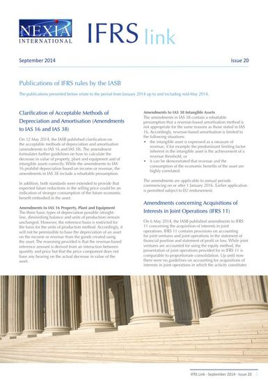 Nexia IFRS Link Newsletter, September 2014, Issue 20