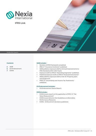 Nexia IFRS Link, October 2017, Issue 27