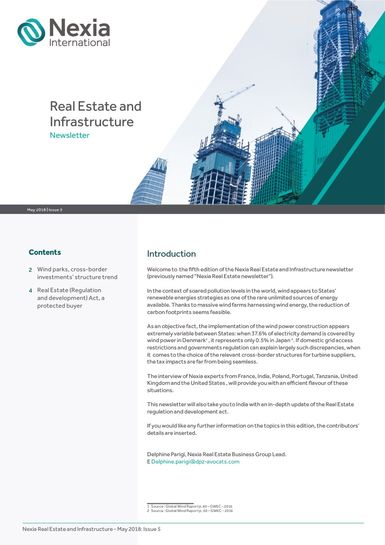 Nexia International Real Estate and Infrastructure Newsletter May 2018
