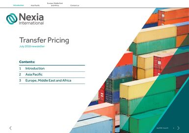 Nexia International Transfer Pricing Newsletter July 218, Issue 1