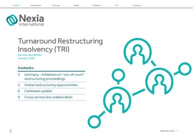 Nexia International Turnaround Restructuring Insolvency (TRI) January 2019