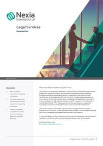 Nexia Legal Services May 2017, Issue 5