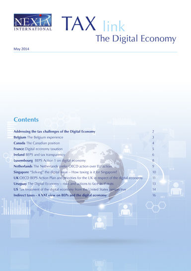 Nexia Tax Link Digital Economy May 2014