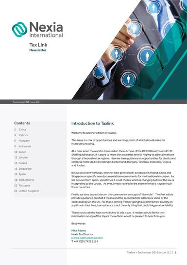 Nexia Tax Link September 2016