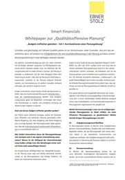 Smart Financials: Whitepaper zur Qualitätsoffensive Planung