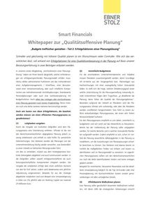 Smart Financials: Whitepaper zur Qualitätsoffensive Planung Teil 2