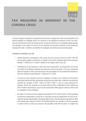 Tax measures in Germany in the corona crisis