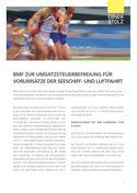 Umsatzsteuer Impuls - BMF zur Umsatzsteuerbefreiung für Vorumsätze der Seeschiff- und Luftfahrt