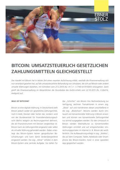 Umsatzsteuer Impuls - Bitcoin