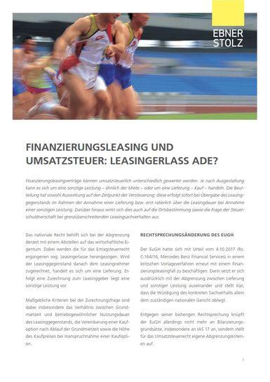 Umsatzsteuer Impuls - Leasing