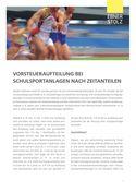 Umsatzsteuer Impuls - Vorsteueraufteilung bei Schulsportanlagen nach Zeitanteilen