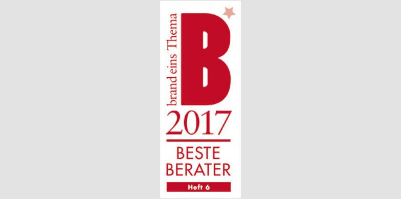 brand eins - Siegel Beste Berater 2017