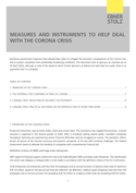 measures and instruments to help deal with the corona crisis