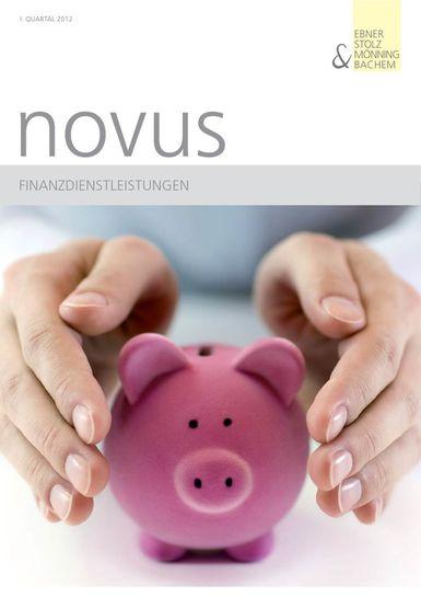 novus Finanzdienstleistungen I. Quartal 2012