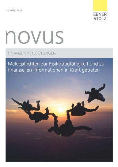 novus Finanzdienstleistungen I. Quartal 2015