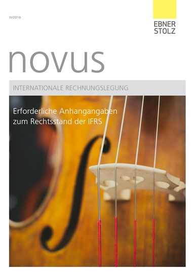 novus Internationale Rechnungslegung III/2016