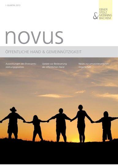 novus Öffentliche Hand  Gemeinnützigkeit I. Quartal 2013