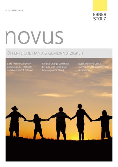 novus Öffentliche Hand  Gemeinnützigkeit III. Quartal 2013