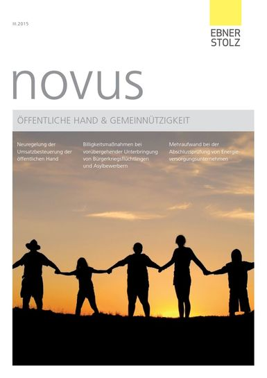 novus Öffentliche Hand  Gemeinnützigkeit III. Quartal 2015