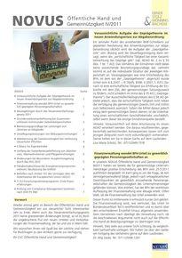 novus Öffentliche Hand  Gemeinnützigkeit IV. Quartal 2011