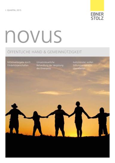novus Öffentliche Hand und Gemeinnützigkeit I. Quartal 2015